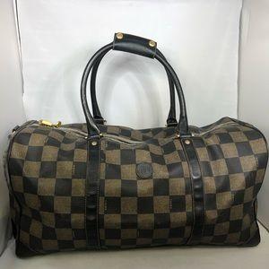 Fendi Vintage Duffle travel back checkered